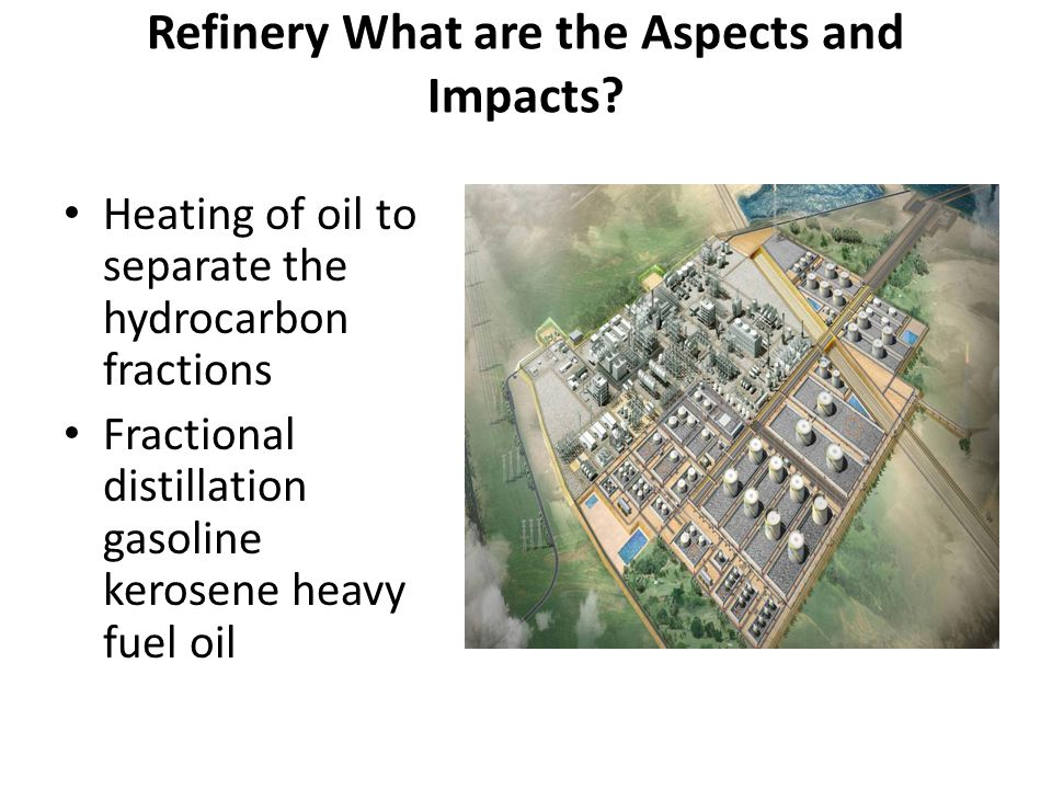Refinery What are the Aspects and Impacts