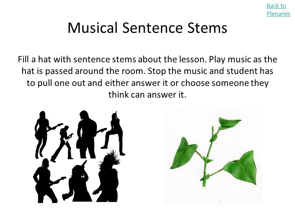 Musical Sentence Stems
