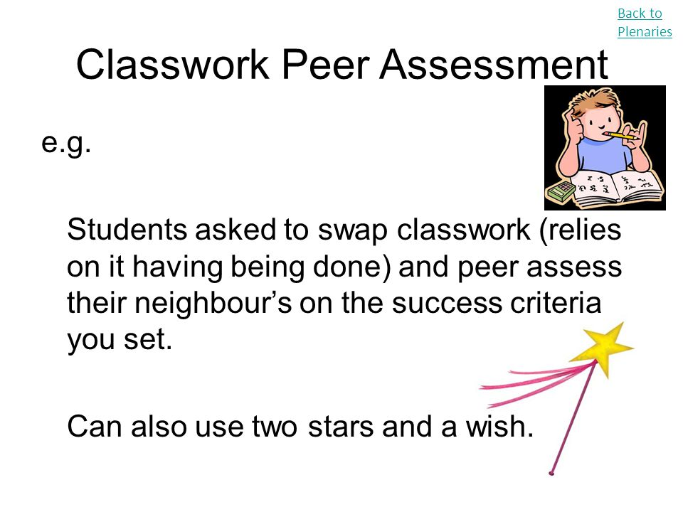 Classwork Peer Assessment