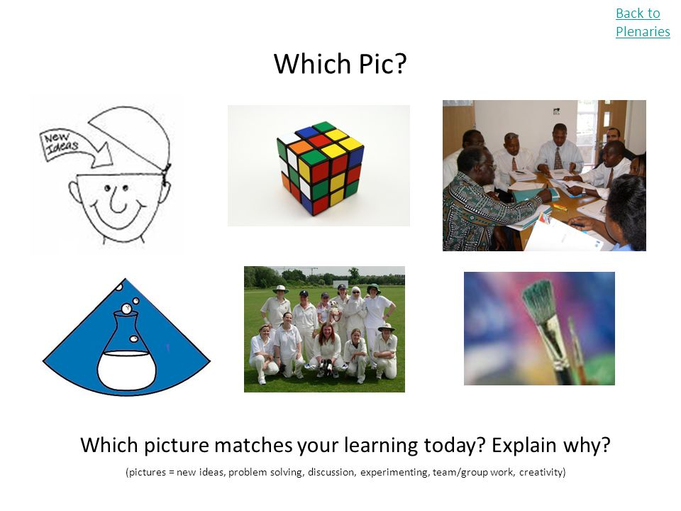 Which picture matches your learning today Explain why