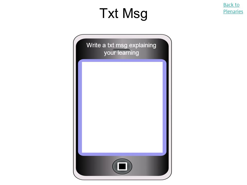 Write a txt msg explaining your learning