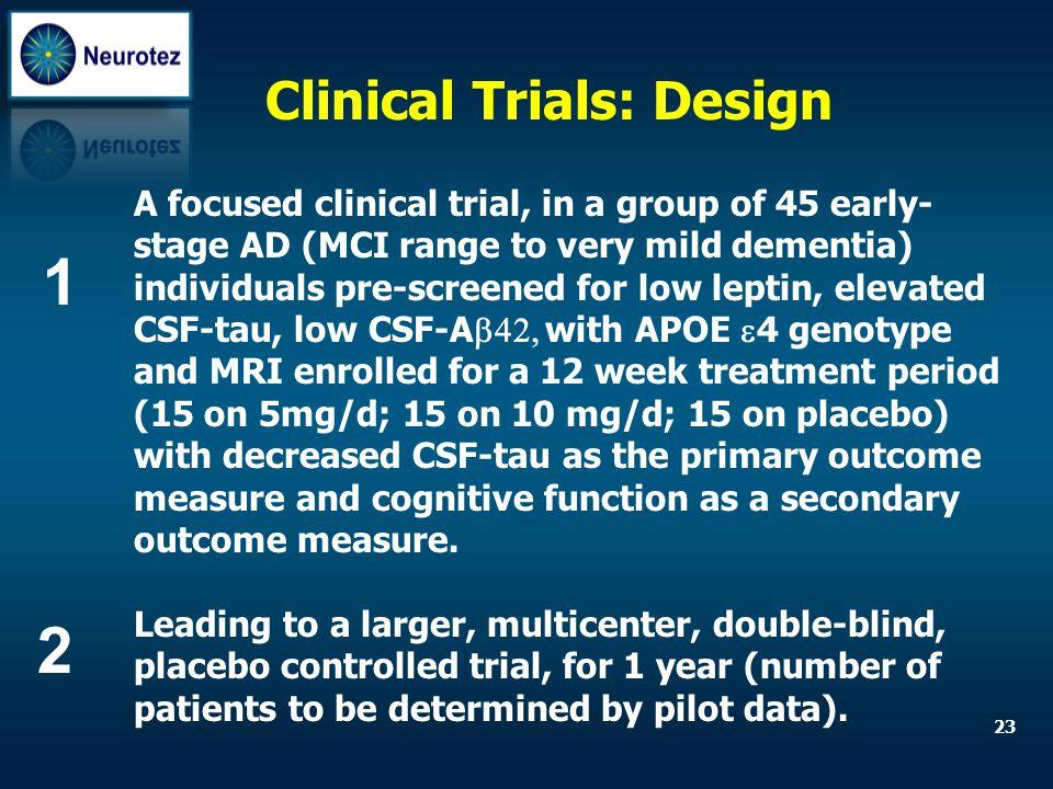 1 2 Clinical Trials: Design