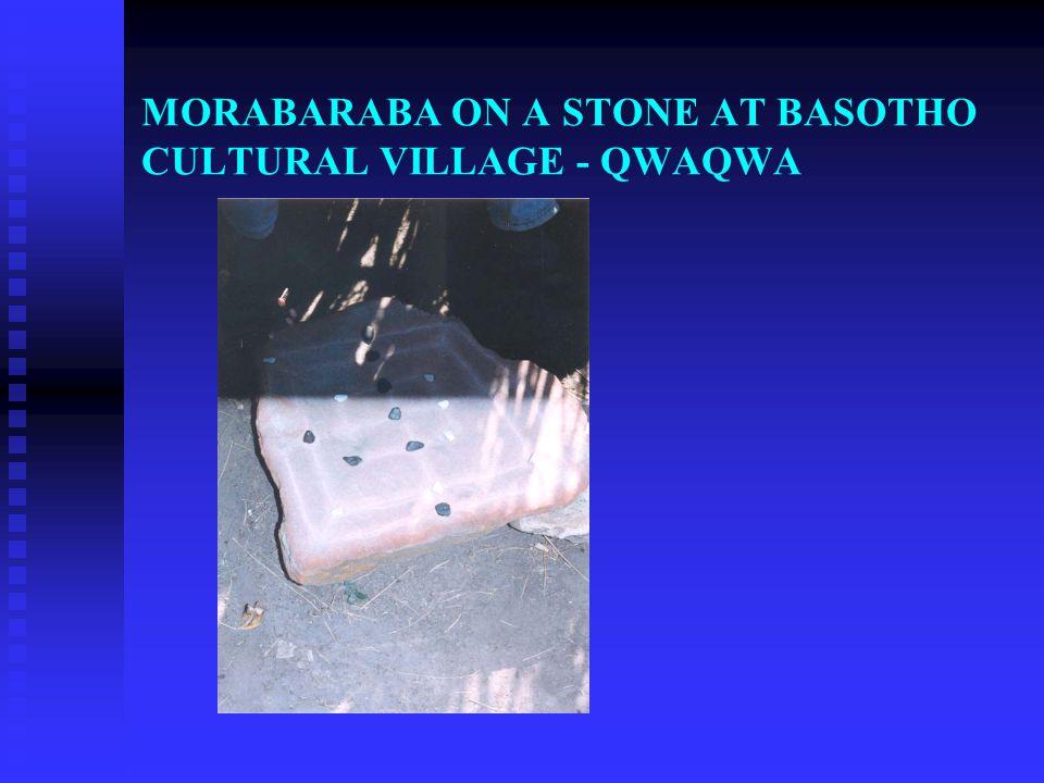 MORABARABA ON A STONE AT BASOTHO CULTURAL VILLAGE - QWAQWA
