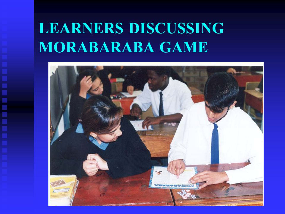 LEARNERS DISCUSSING MORABARABA GAME