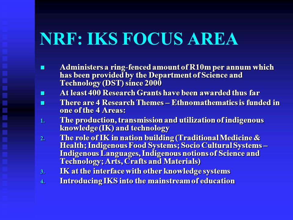 NRF: IKS FOCUS AREA