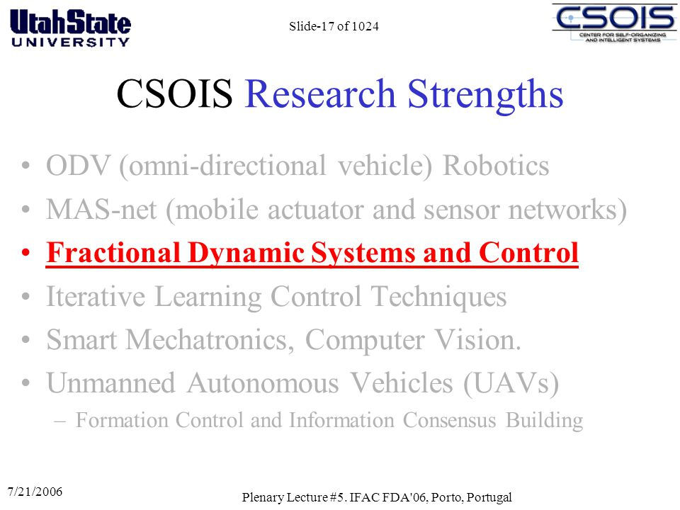 CSOIS Research Strengths