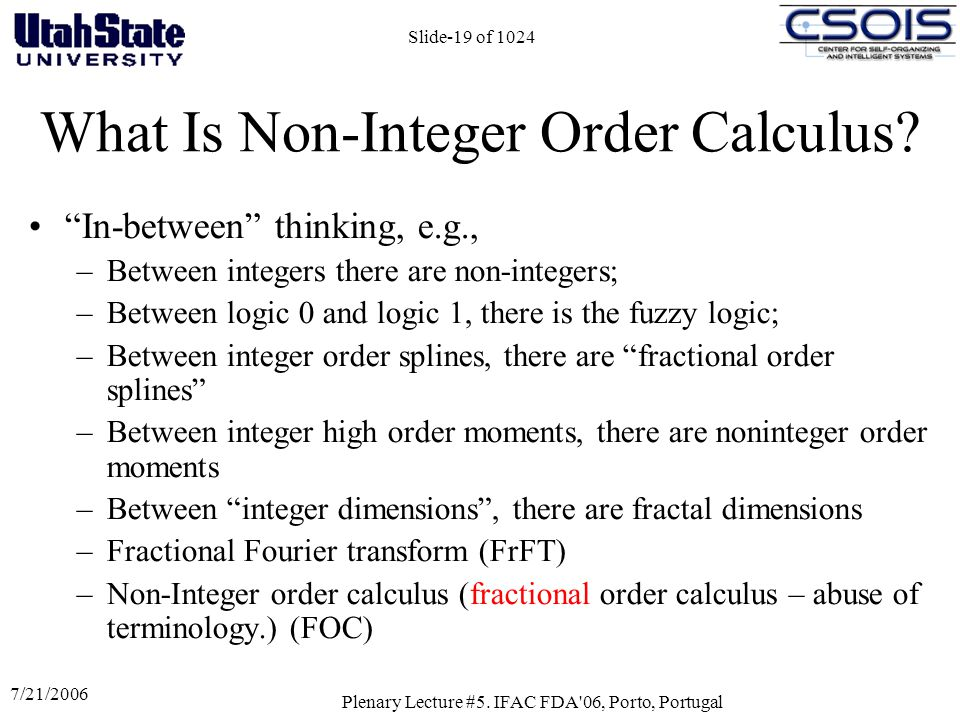 What Is Non-Integer Order Calculus