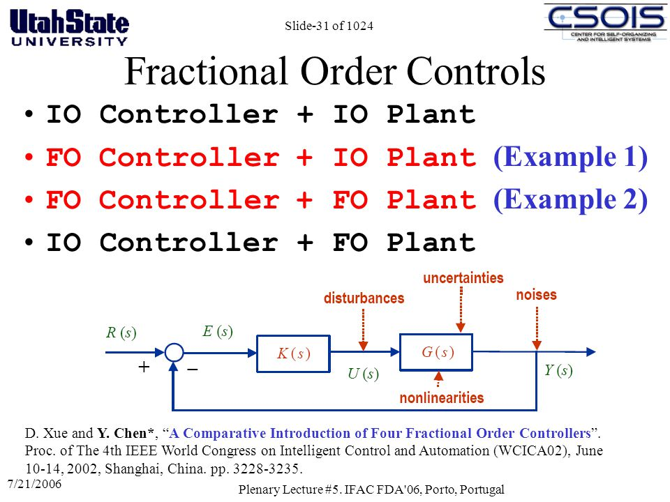 Fractional Order Controls