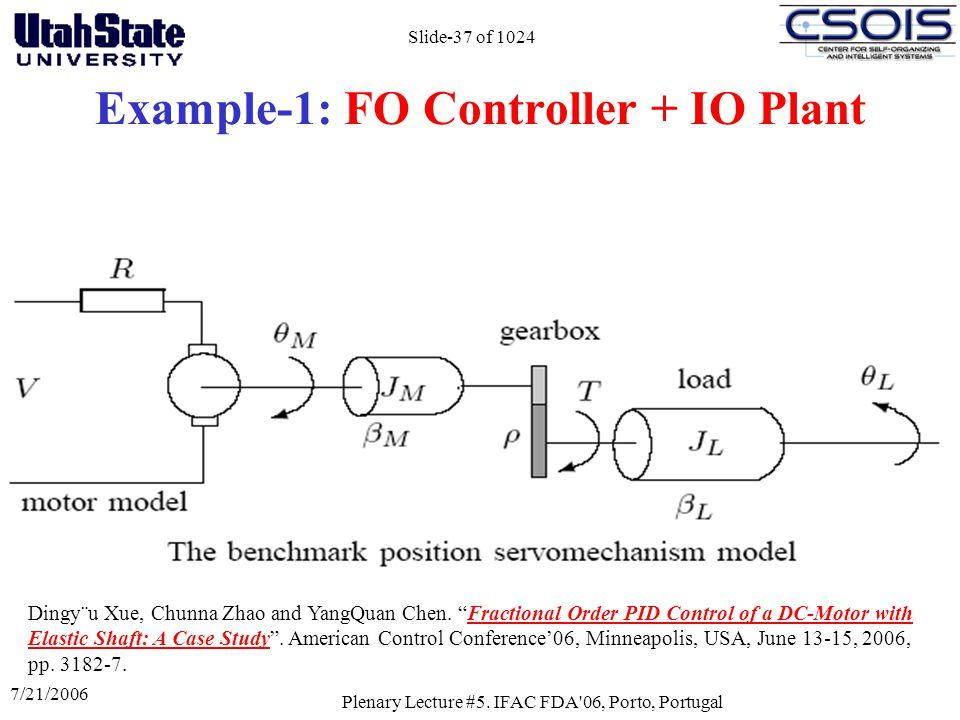 Example-1: FO Controller + IO Plant