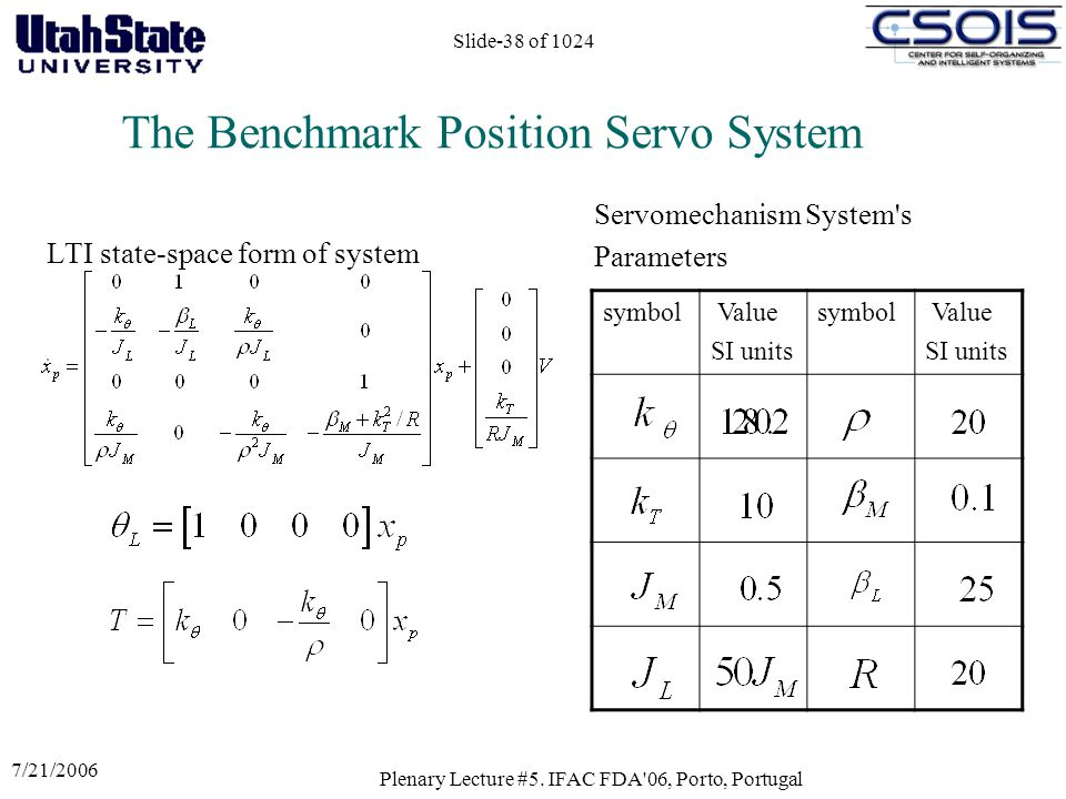 The Benchmark Position Servo System