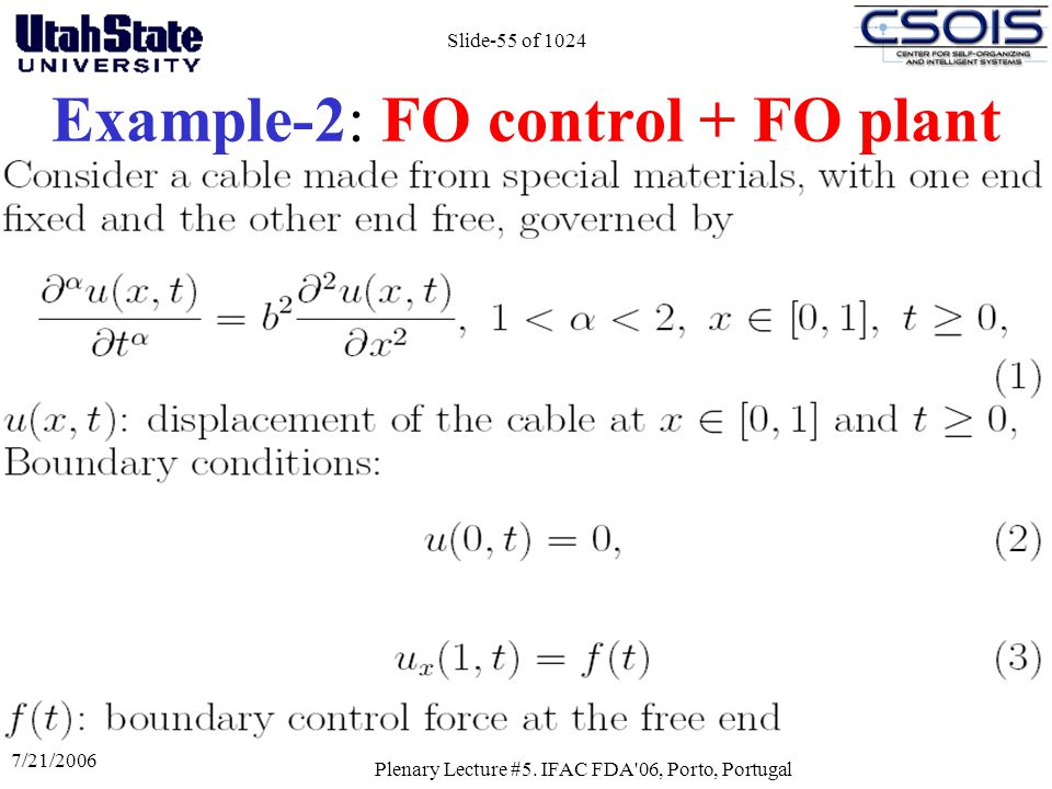 Example-2: FO control + FO plant
