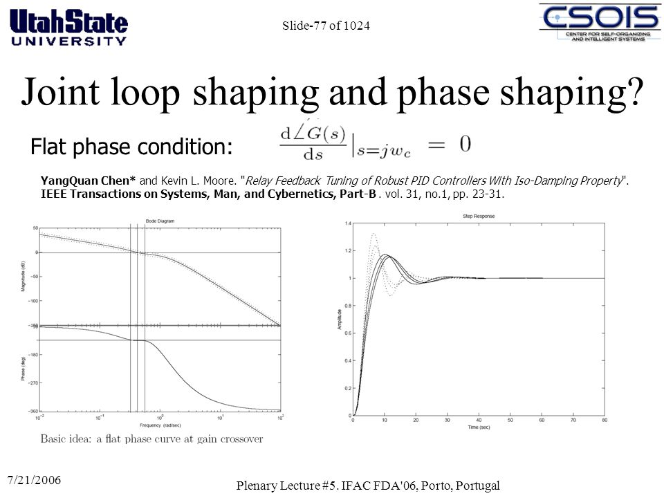Joint loop shaping and phase shaping