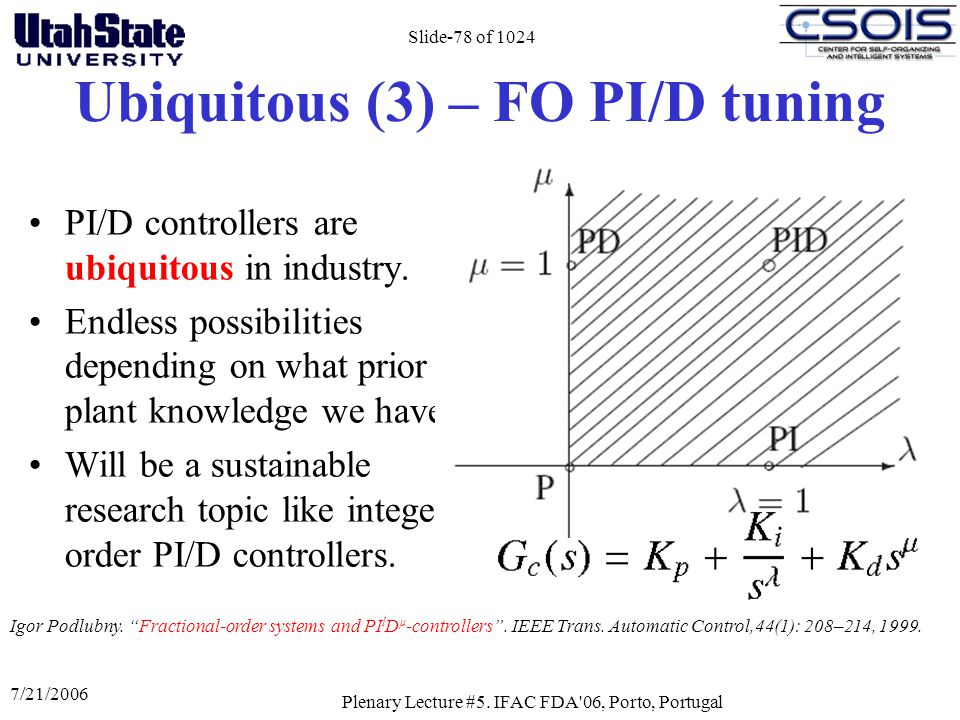 Ubiquitous (3) – FO PI/D tuning