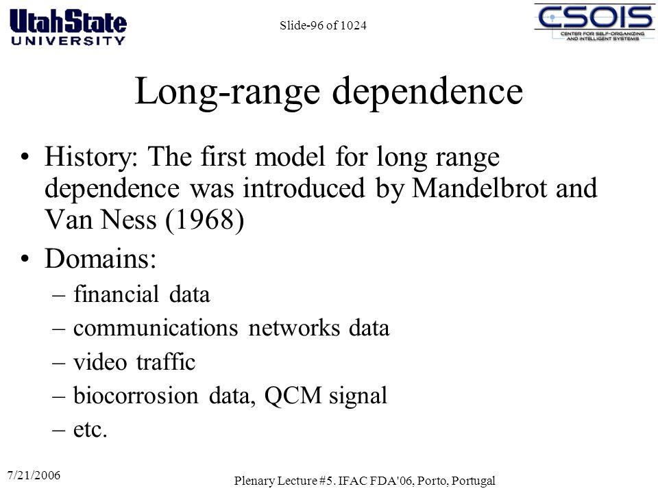 Long-range dependence