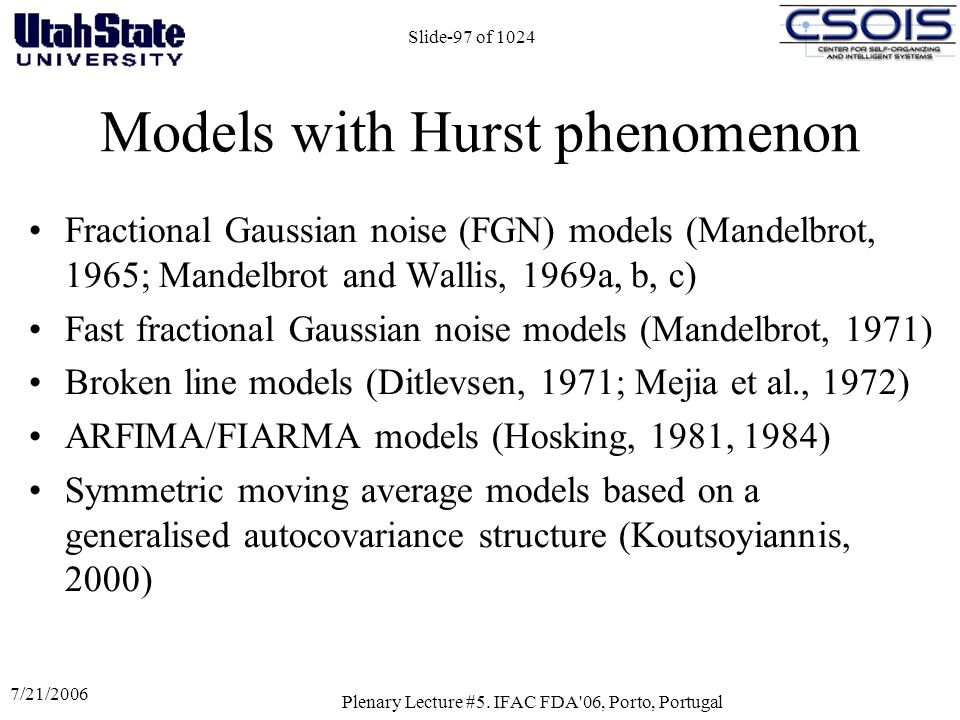 Models with Hurst phenomenon