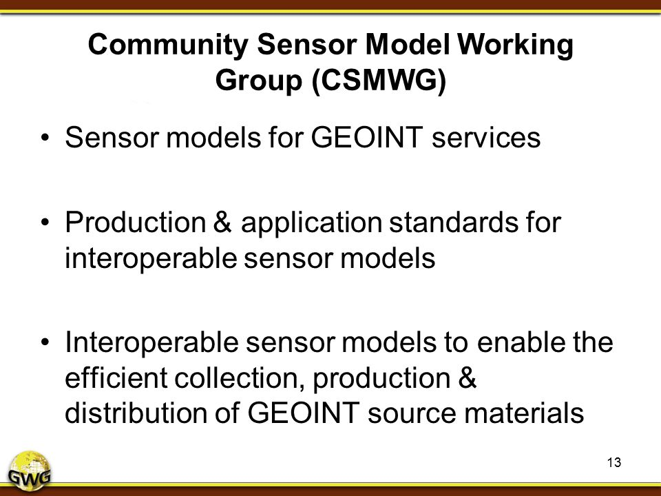 Community Sensor Model Working Group (CSMWG)