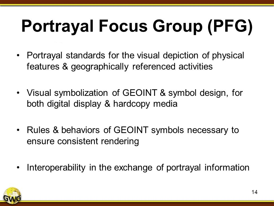 Portrayal Focus Group (PFG)