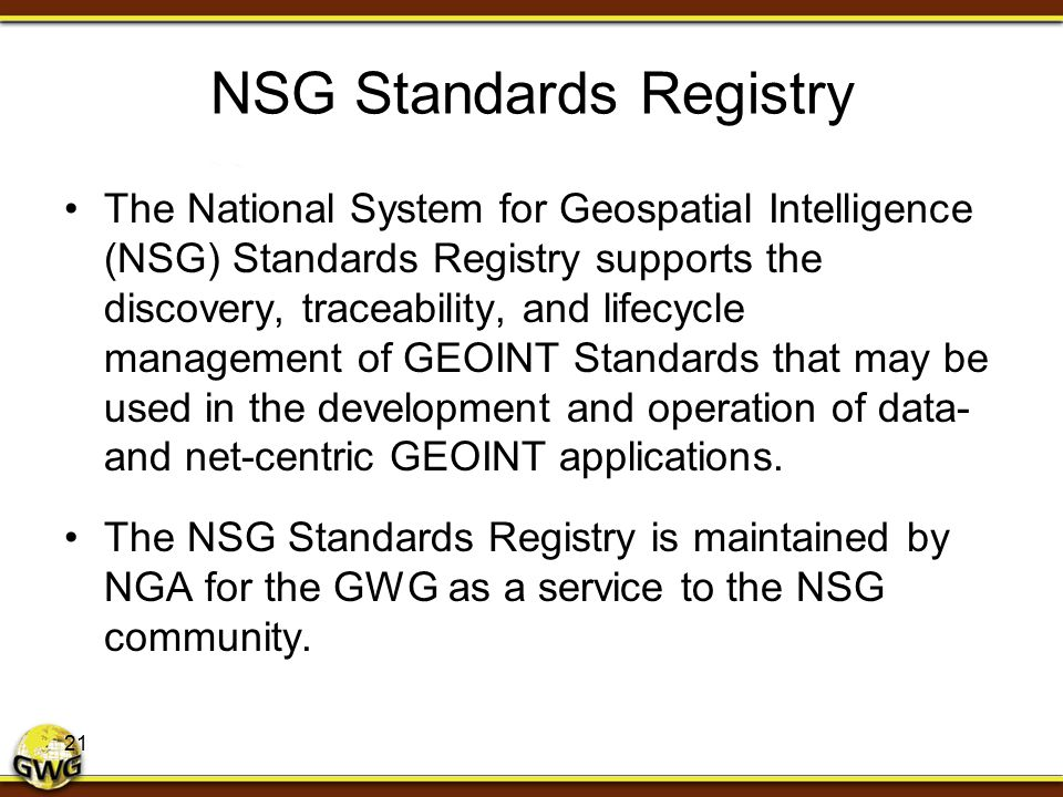 NSG Standards Registry