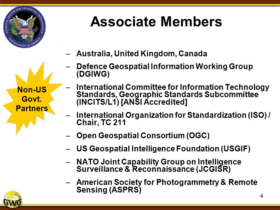 Associate Members Australia, United Kingdom, Canada