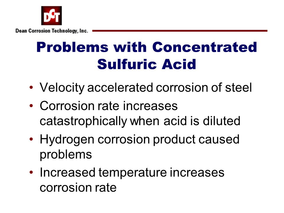Problems with Concentrated Sulfuric Acid