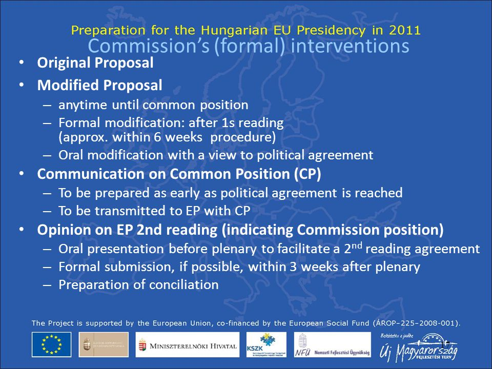 Commission's (formal) interventions