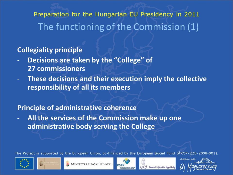 The functioning of the Commission (1)