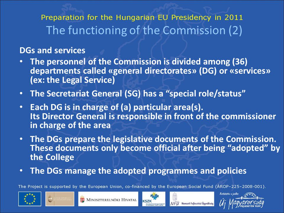 The functioning of the Commission (2)