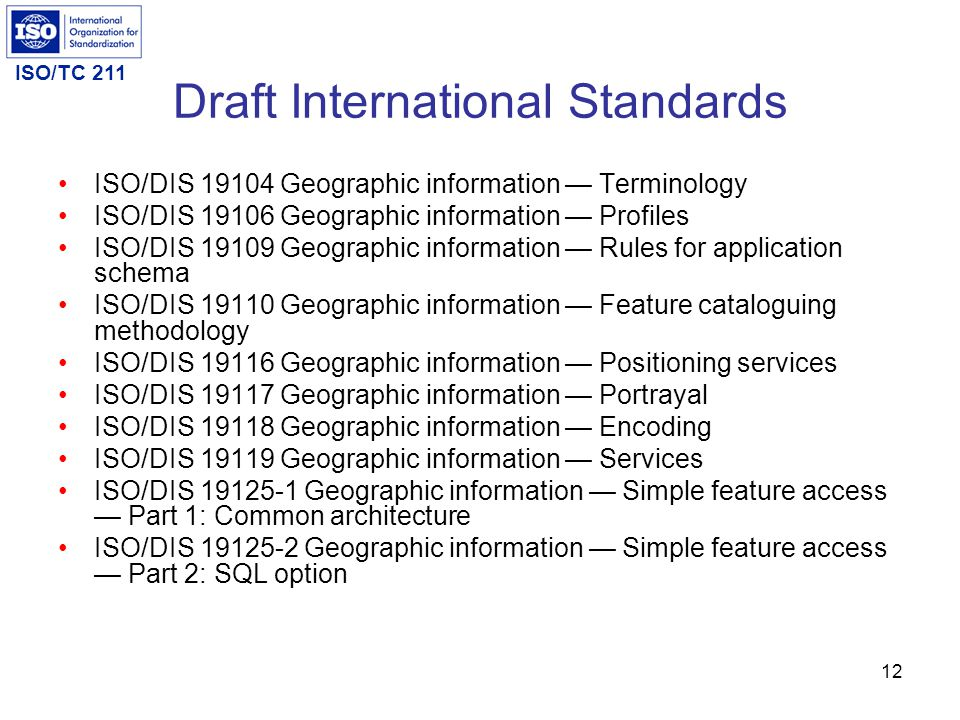 Draft International Standards