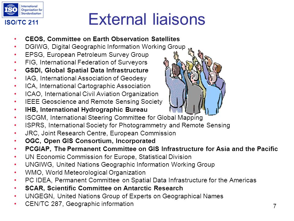 External liaisons CEOS, Committee on Earth Observation Satellites