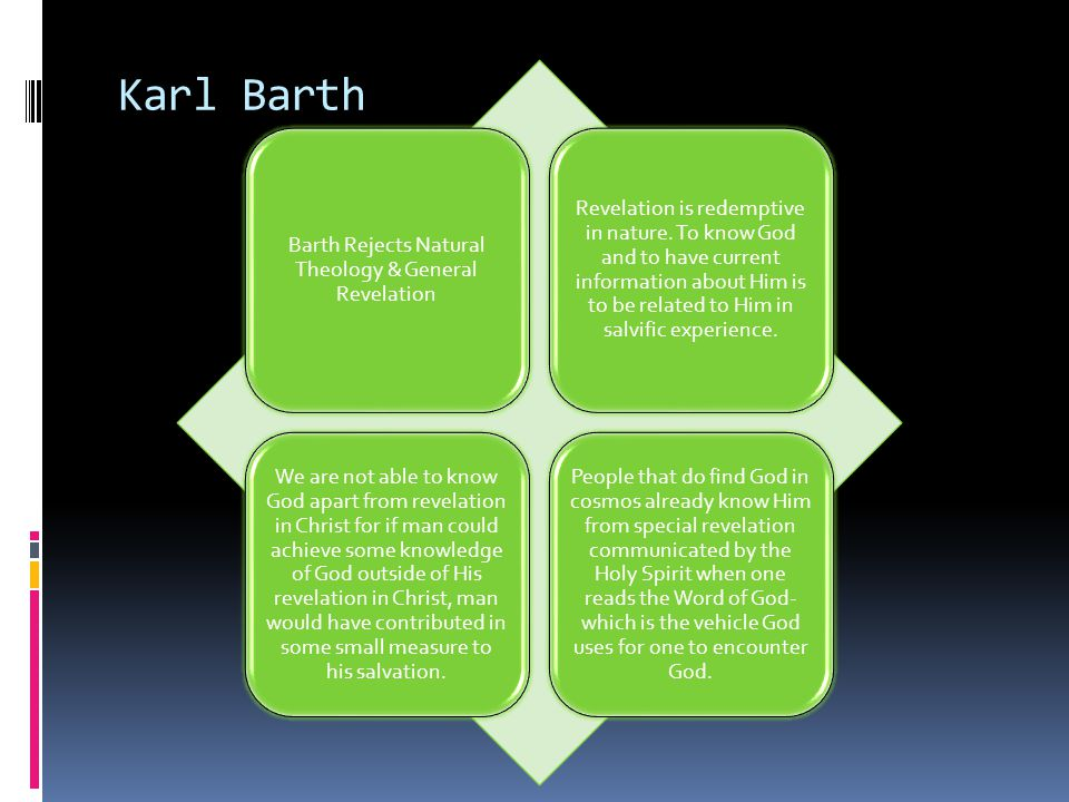 Barth Rejects Natural Theology & General Revelation