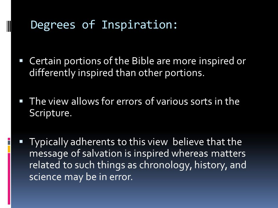 Degrees of Inspiration: