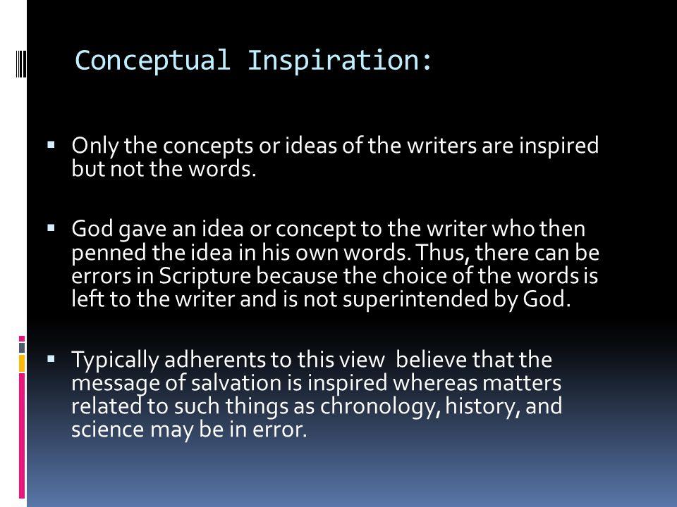 Conceptual Inspiration: