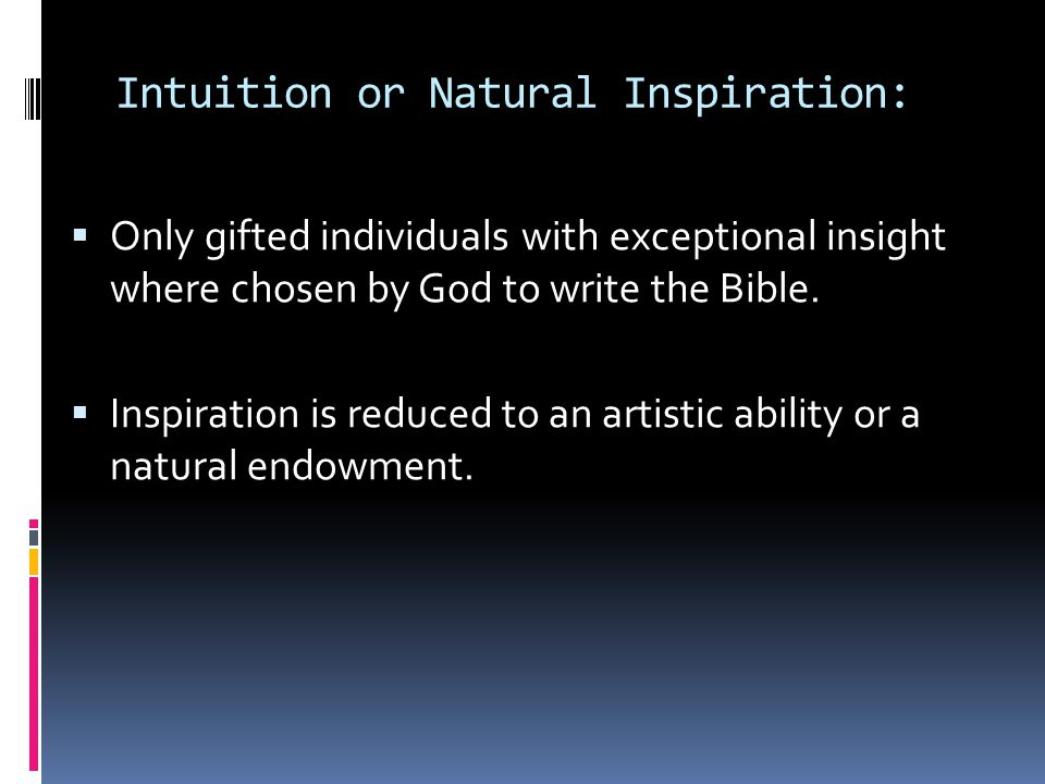 Intuition or Natural Inspiration: