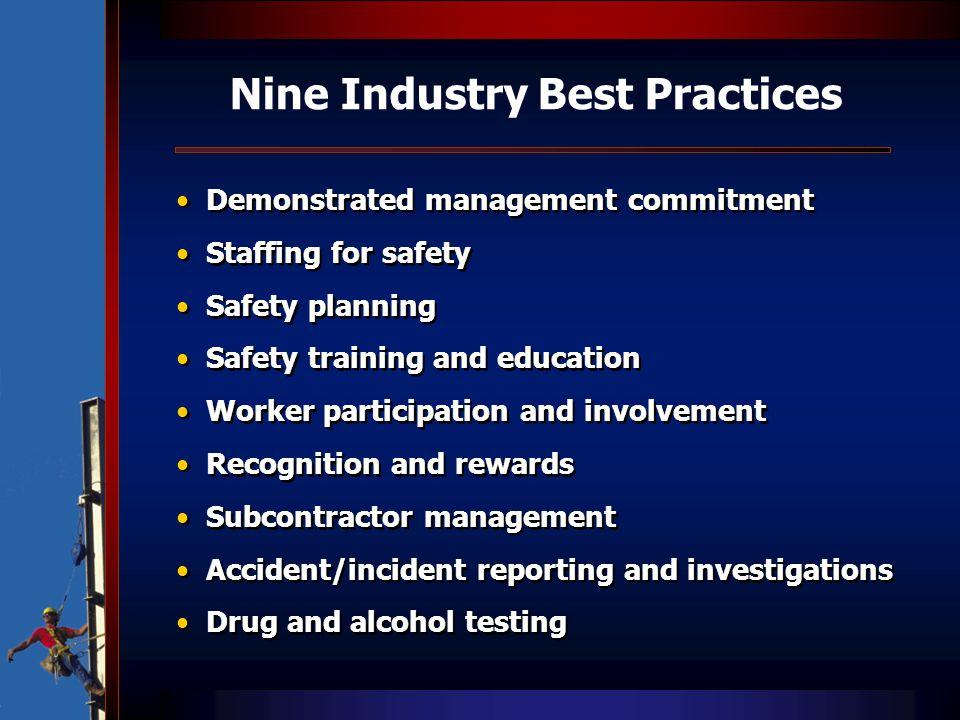 Nine Industry Best Practices