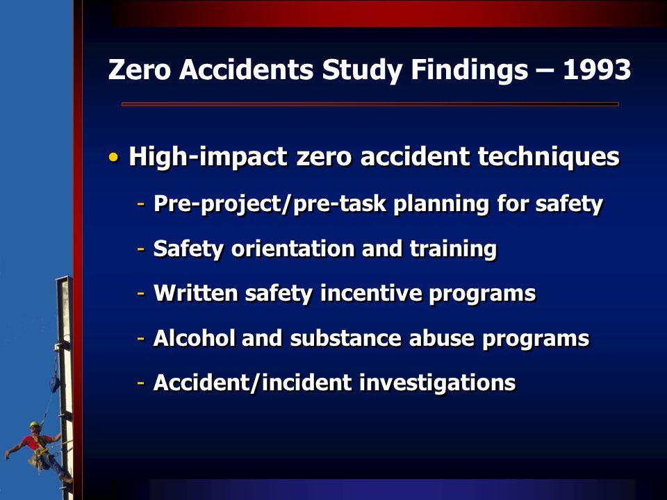 Zero Accidents Study Findings – 1993