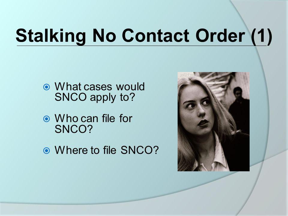 Stalking No Contact Order (1)