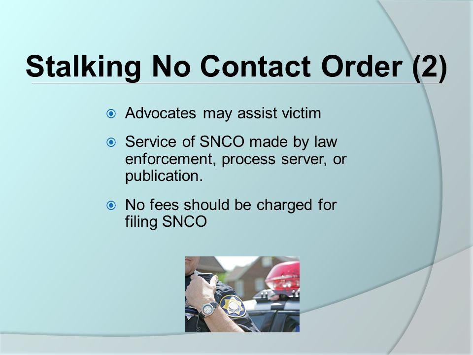 Stalking No Contact Order (2)