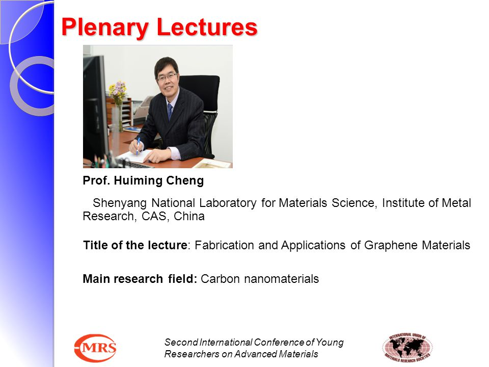 Plenary Lectures Prof. Huiming Cheng