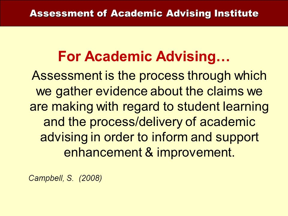 For Academic Advising…