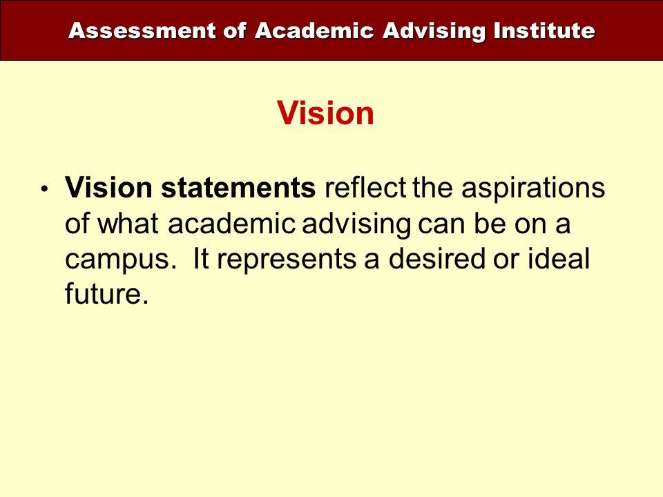 Assessment of Academic Advising Institute