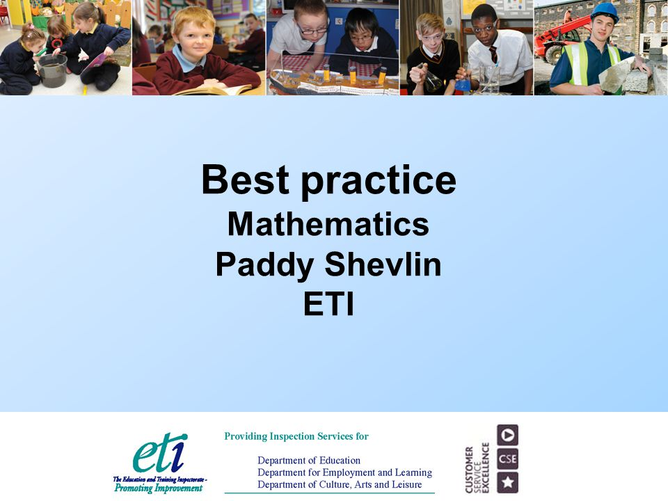 Best practice Mathematics Paddy Shevlin ETI
