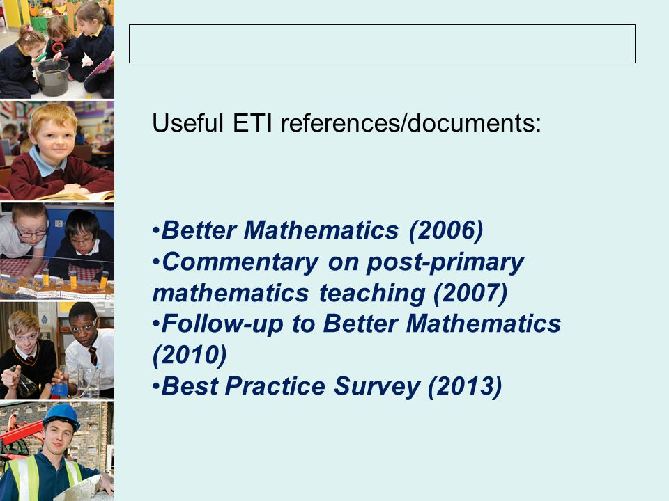 Useful ETI references/documents: