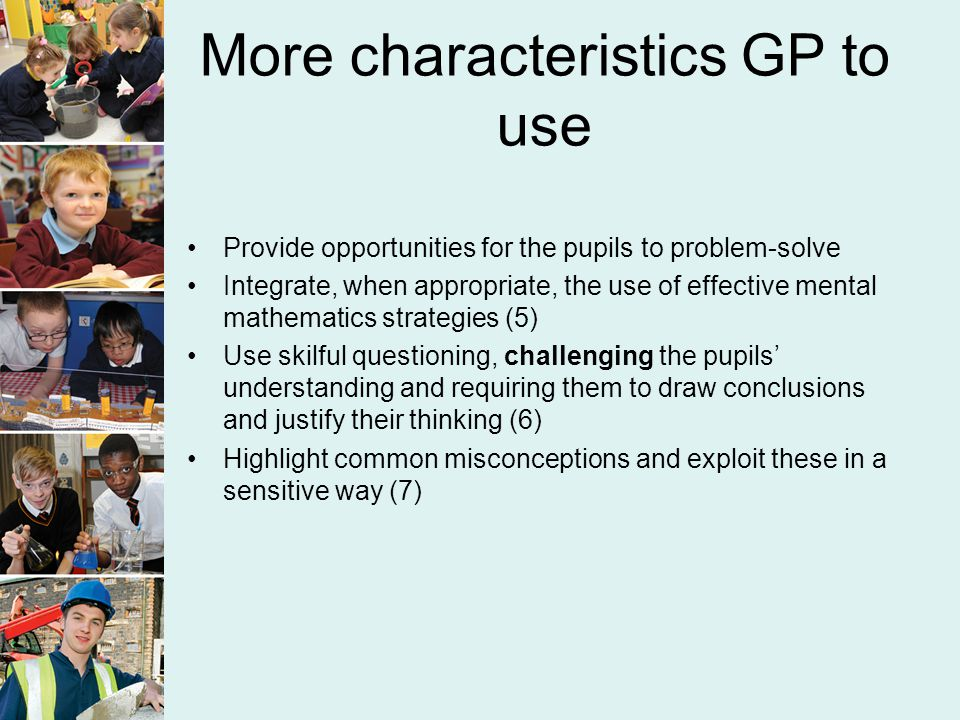 More characteristics GP to use