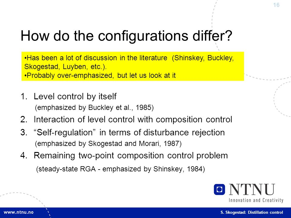 How do the configurations differ