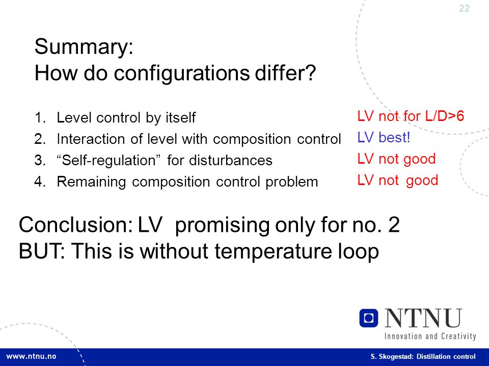 Summary: How do configurations differ