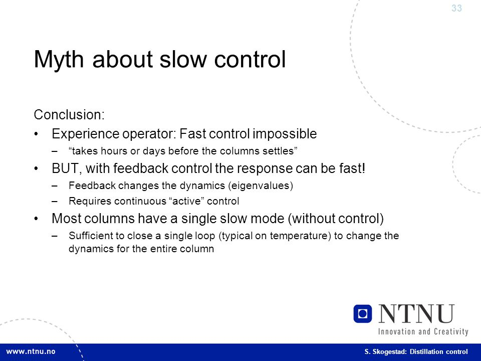 Myth about slow control