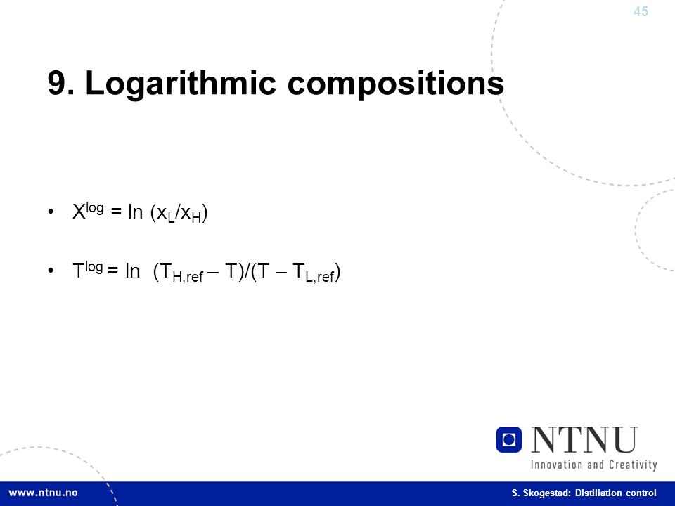 9. Logarithmic compositions