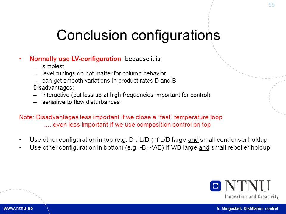 Conclusion configurations