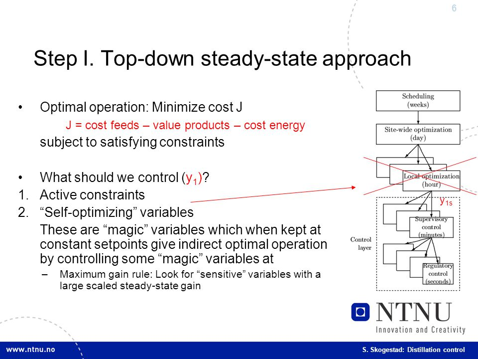 Step I. Top-down steady-state approach