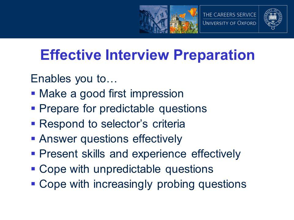 Effective Interview Preparation